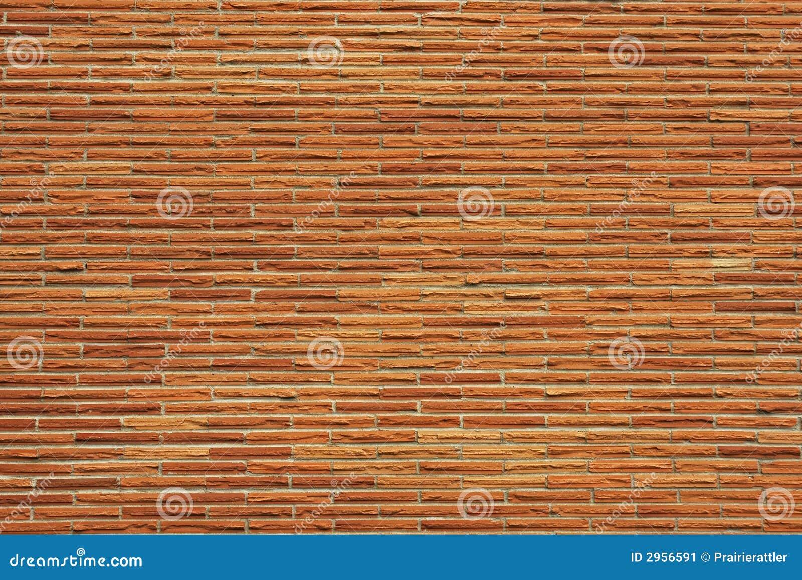 Reddish Thin Brick Wall Stock Image Image Of Nature Masonry 2956591