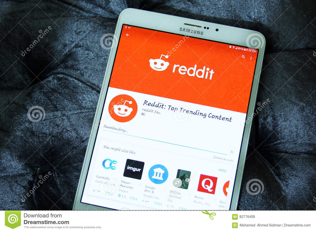 Reddit mobile app editorial stock image  Image of android - 92776409