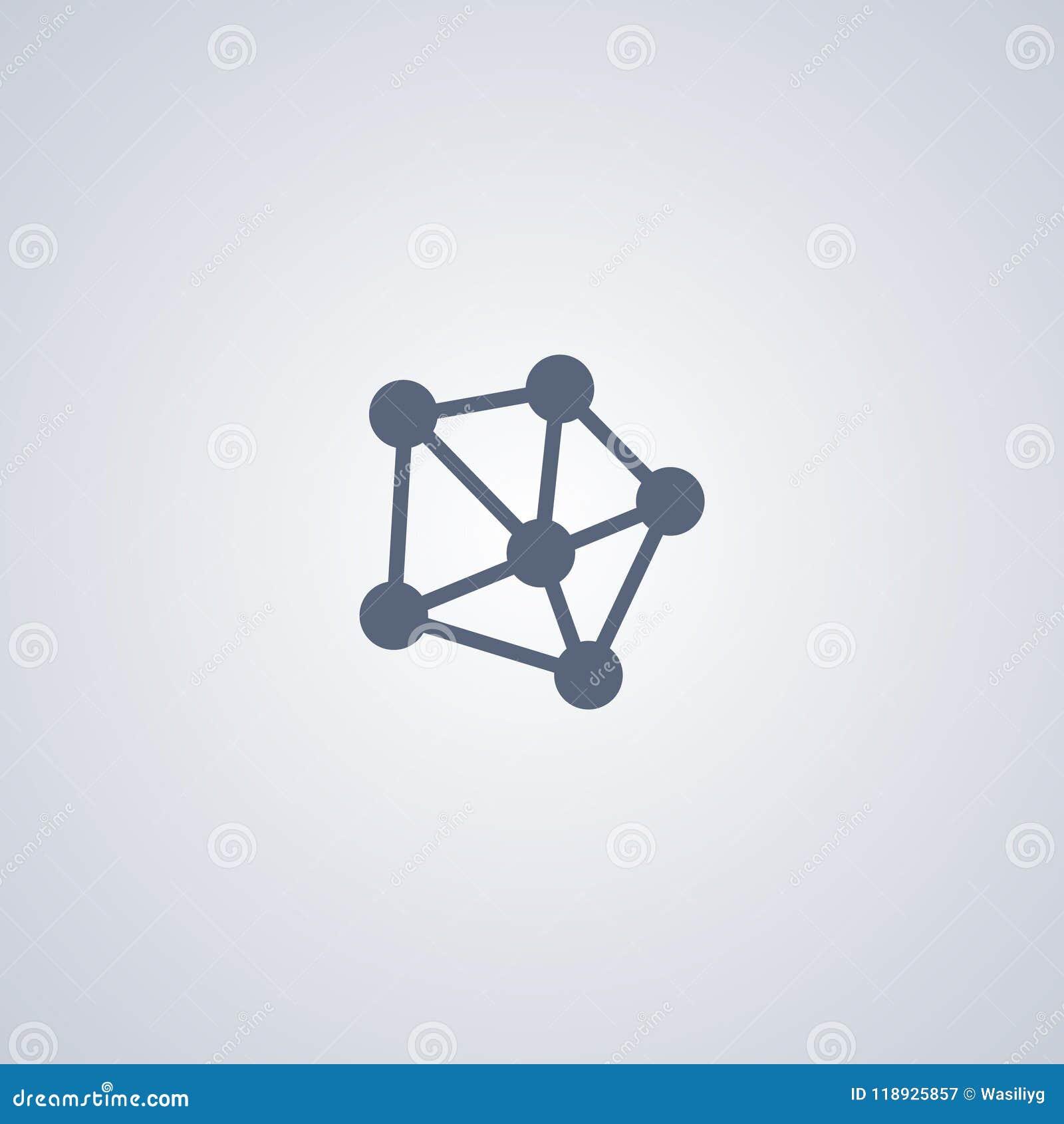A rede, conexão, vector o melhor ícone liso