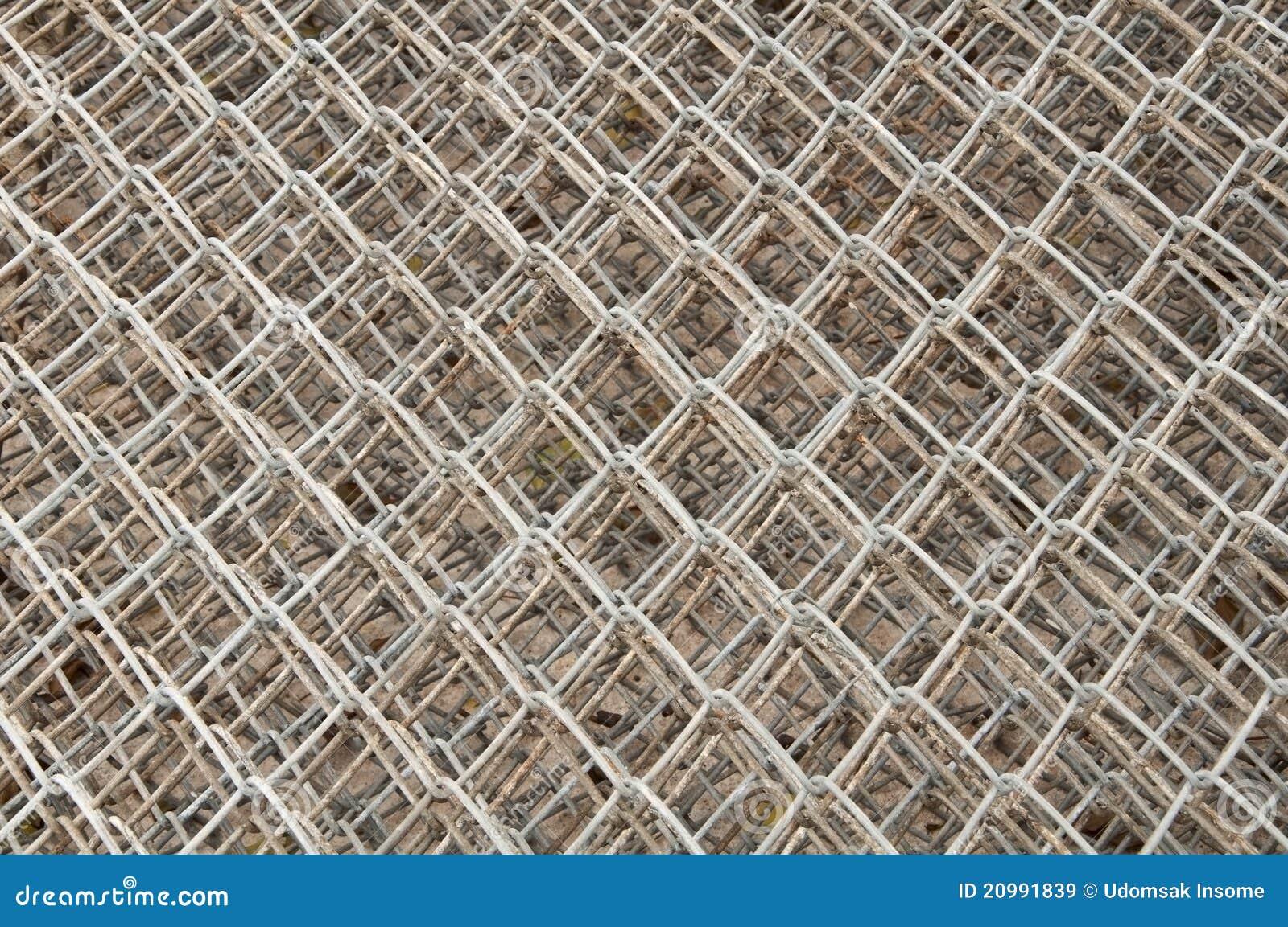 Rede de aço velha