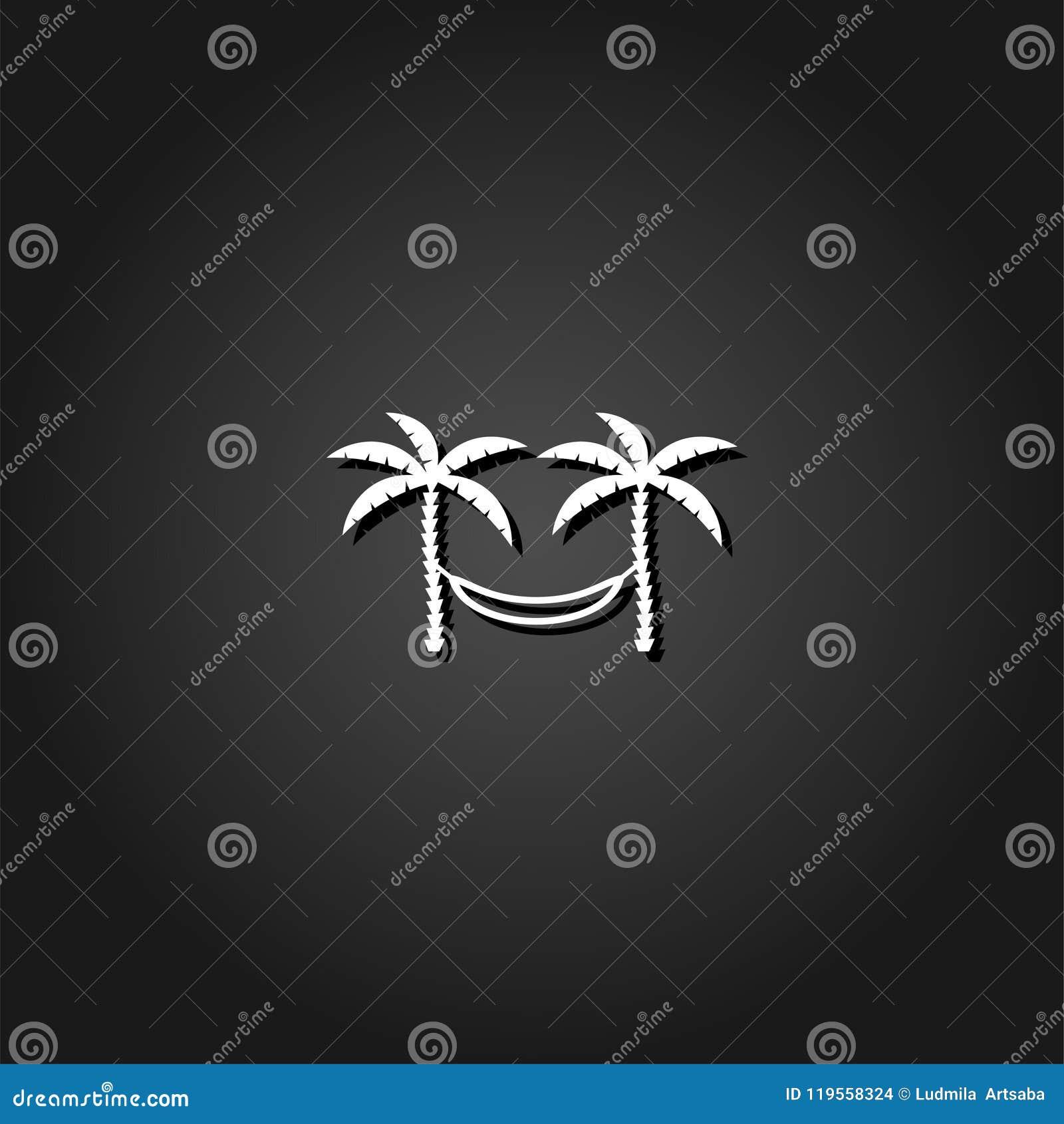Rede de relaxamento entre o ícone de duas palmeiras horizontalmente