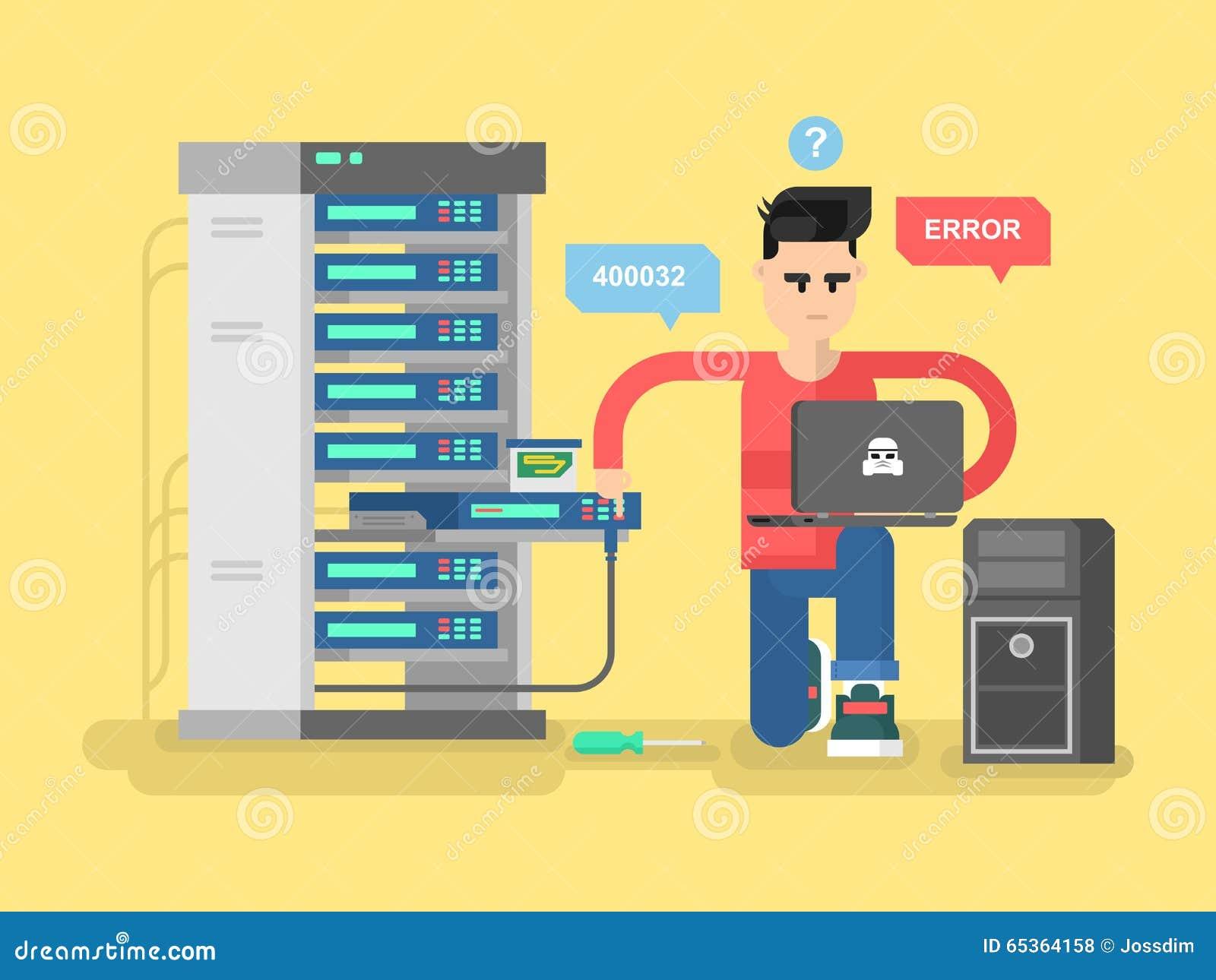 Rede do especialista da TI