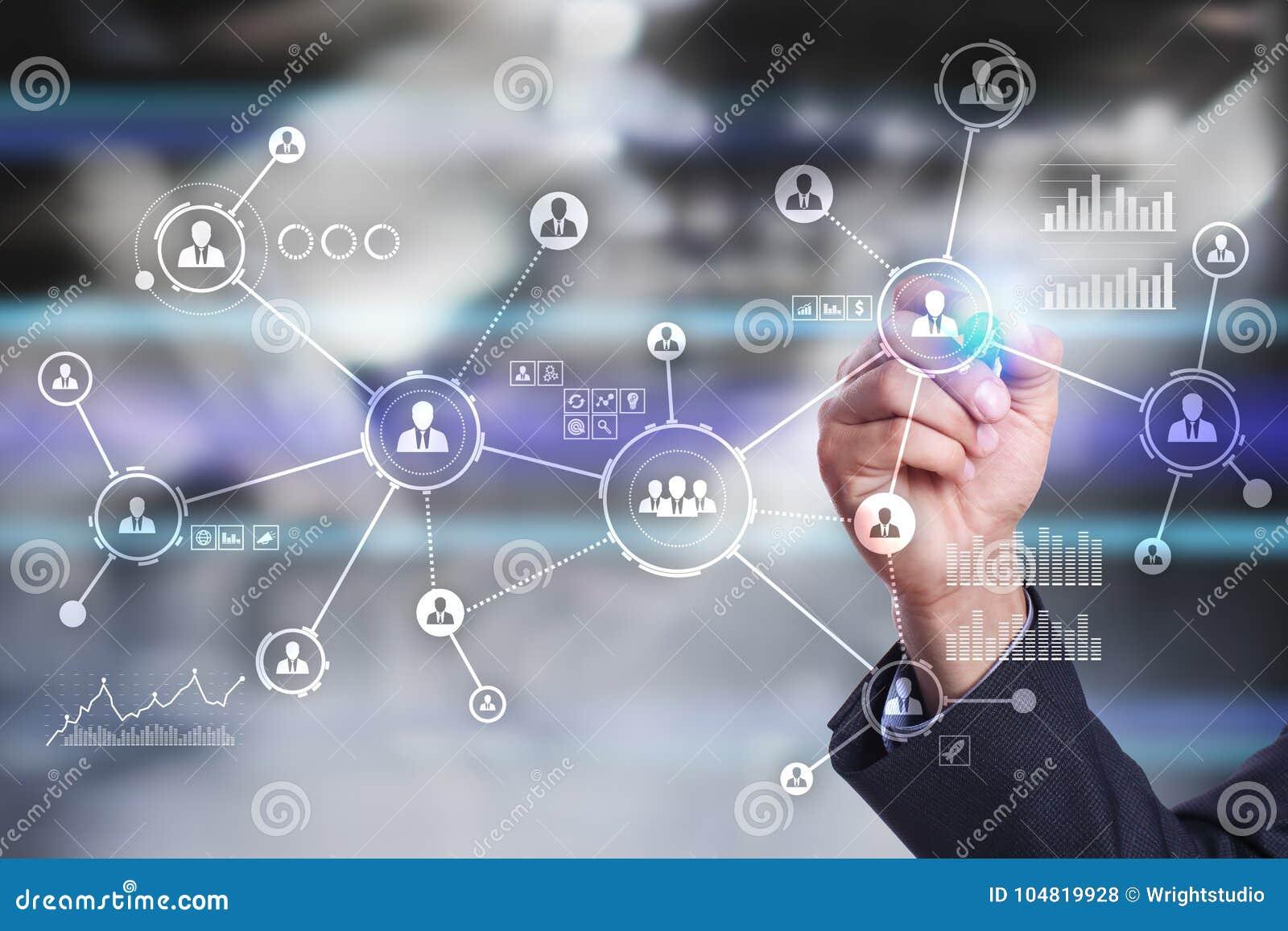 Rede dos povos Estrutura de organização Hora Media sociais Conceito do Internet