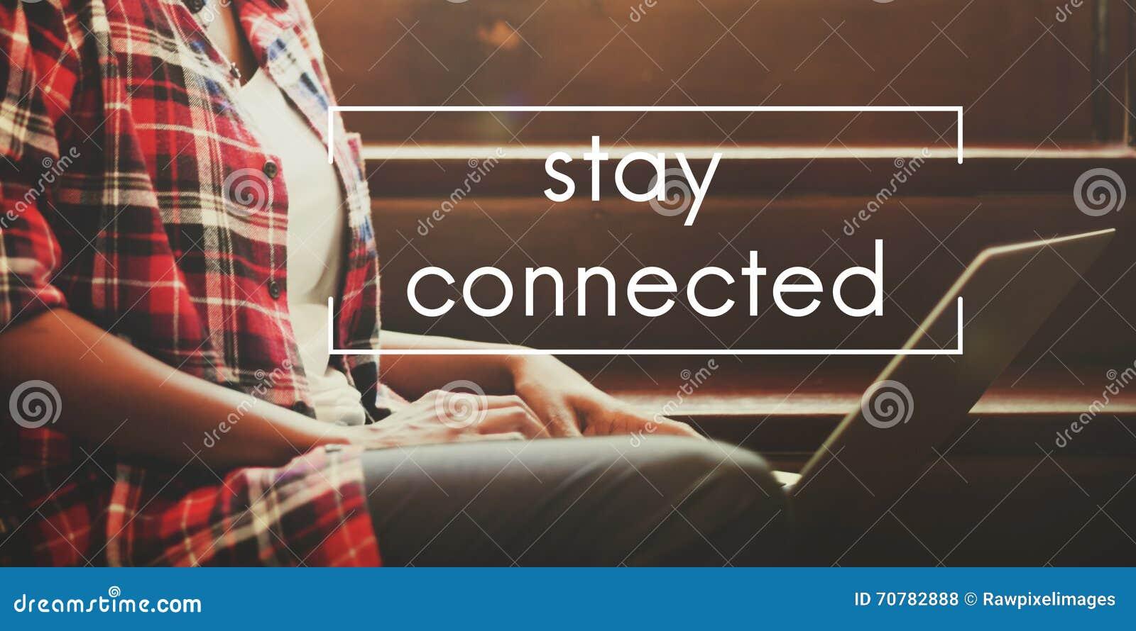 Rede interativa conectada estada que compartilha do conceito social
