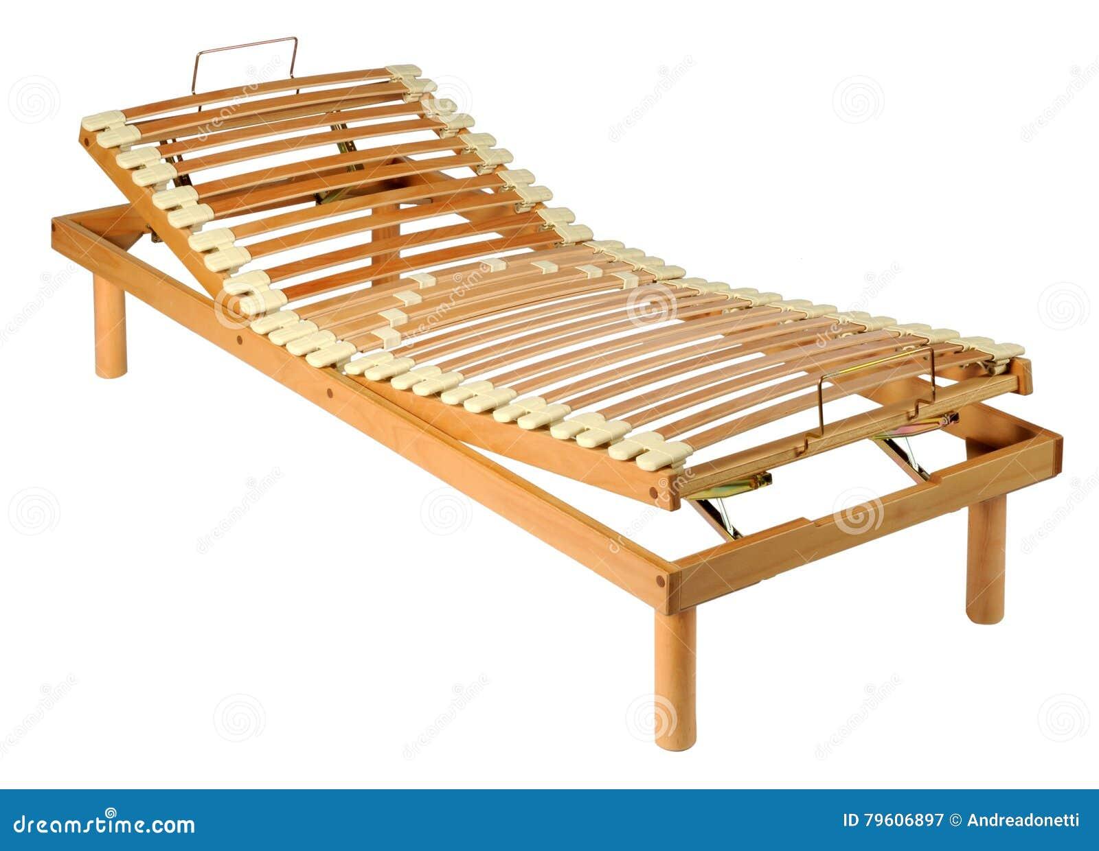 Rede ortopédica de madeira em um quadro ajustável