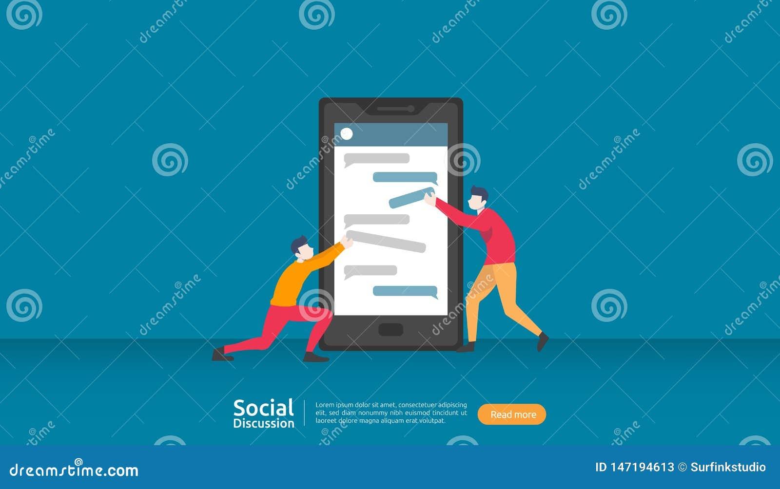 Rede social da conversa??o dos meios Car?ter dos povos de uma comunica??o das bolhas do di?logo do bate-papo a comunidade que con