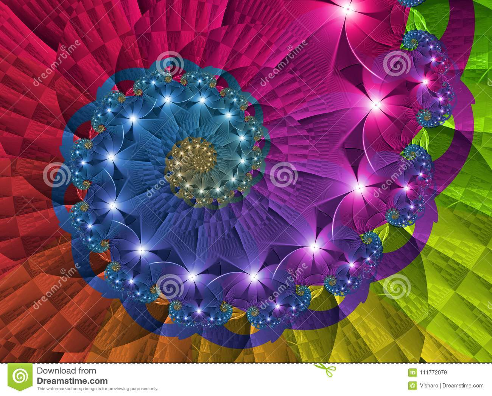 Redemoinho de giro do arco-íris