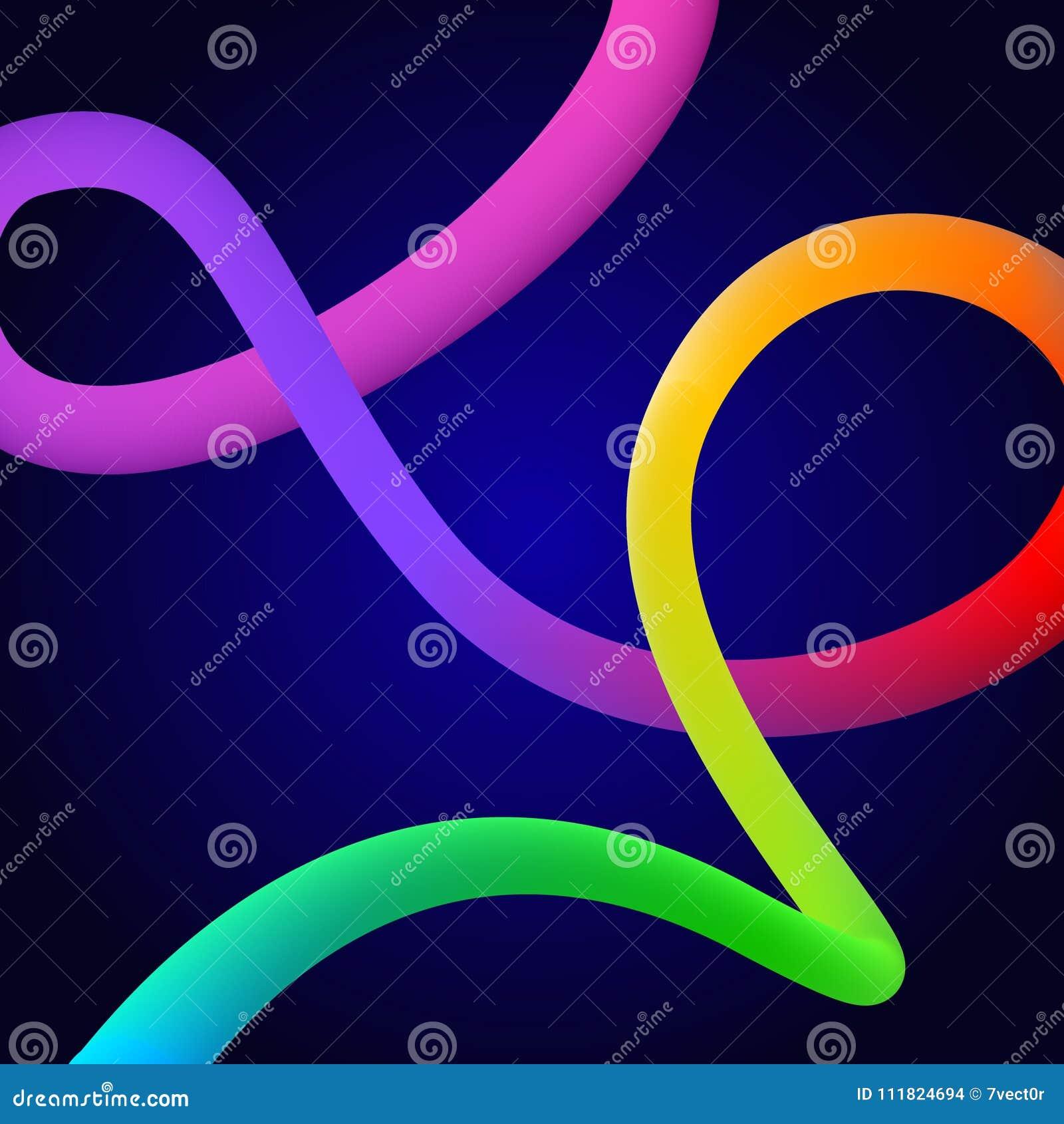 Redemoinho fluido da forma do fluxo líquido sutil colorido brilhante do inclinação da mistura