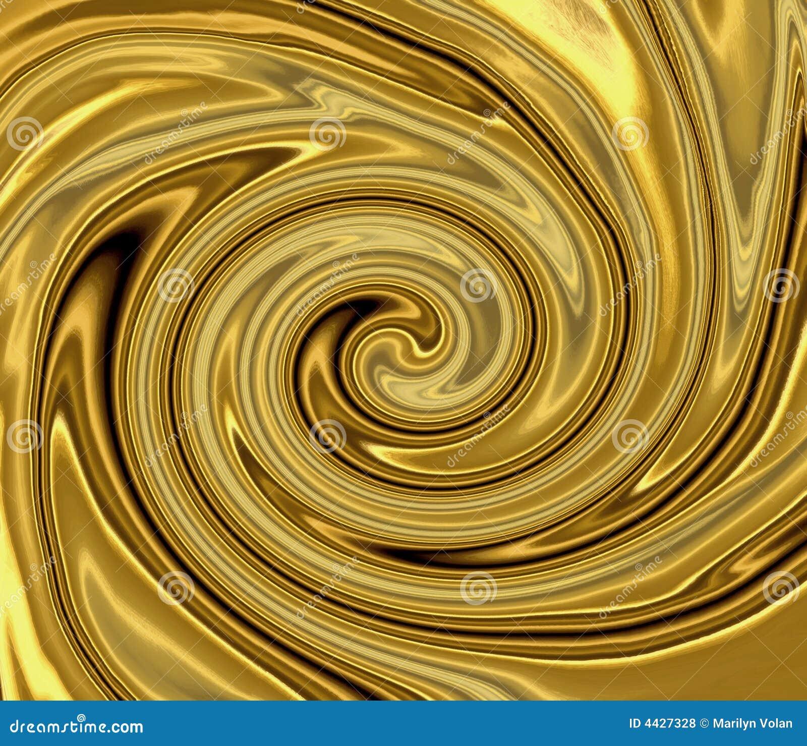 Redemoinho líquido do ouro