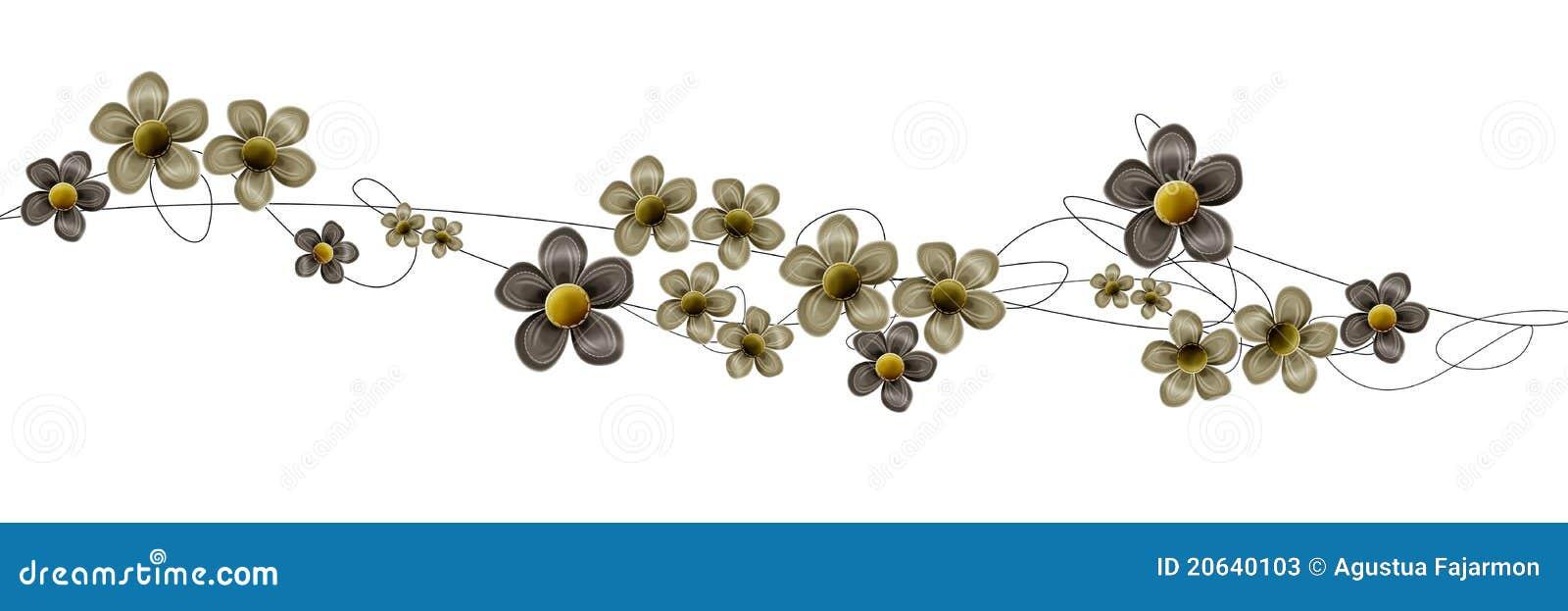 Redemoinhos e flores