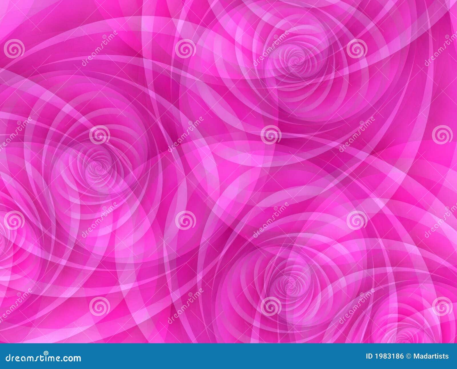 Redemoinhos opacos cor-de-rosa dos círculos
