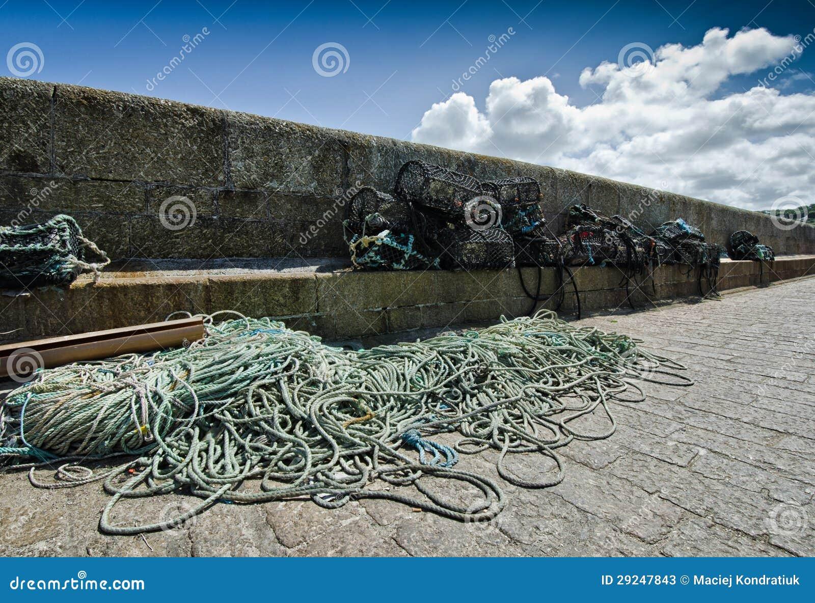 Download Redes de pesca imagem de stock. Imagem de barco, indústria - 29247843