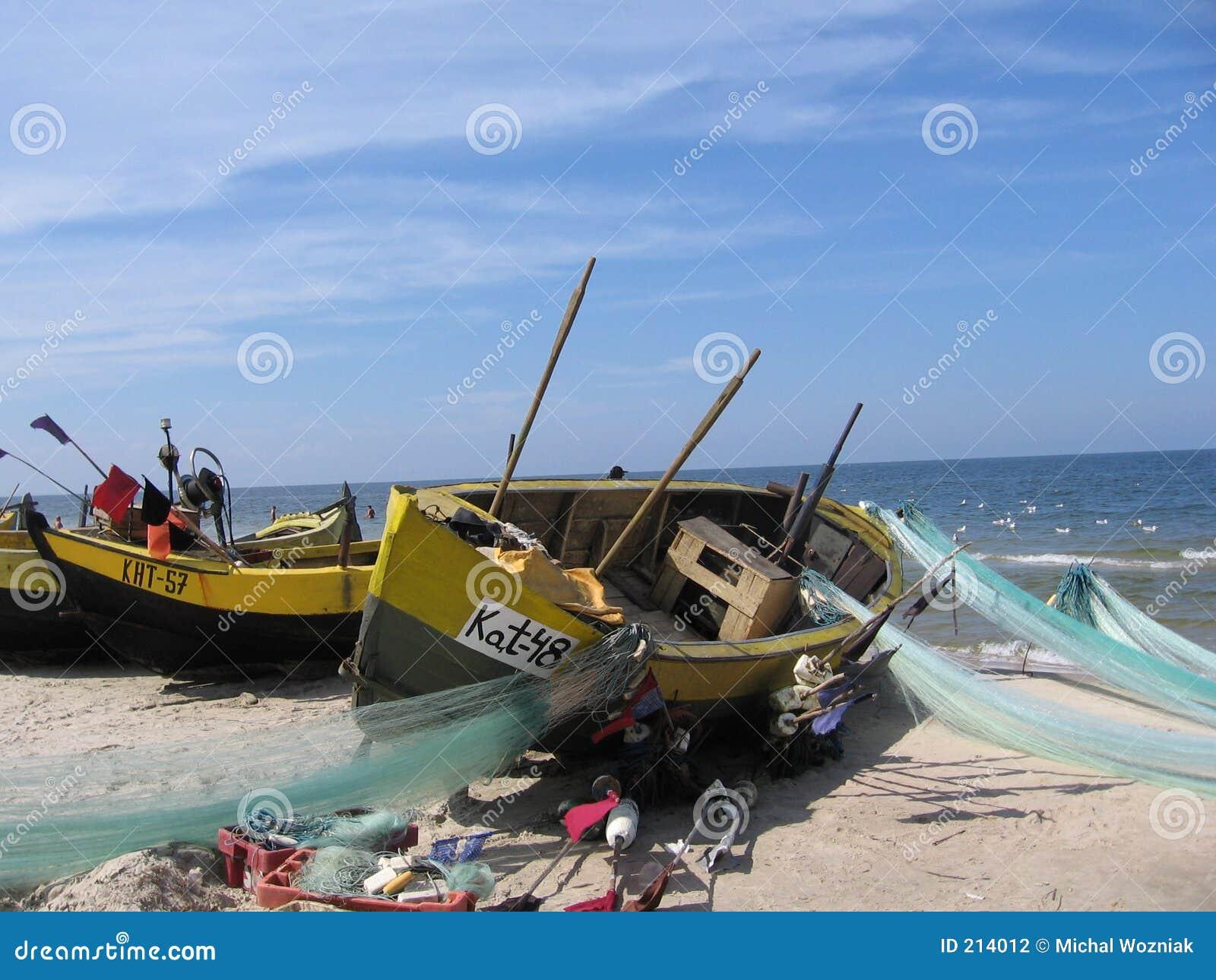 Redes de pesca do anúncio do barco