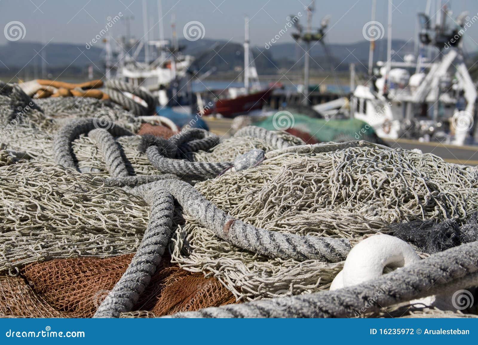 Redes de pesca para pescar en el mar fotograf a de archivo - Redes de pesca decorativas ...