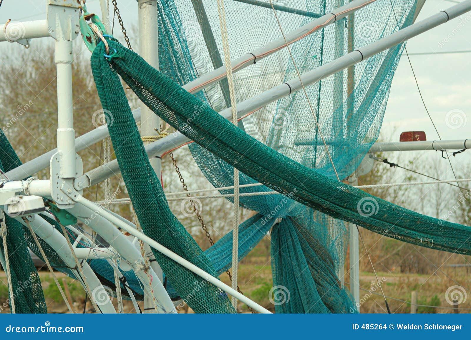 Redes del barco del camarón