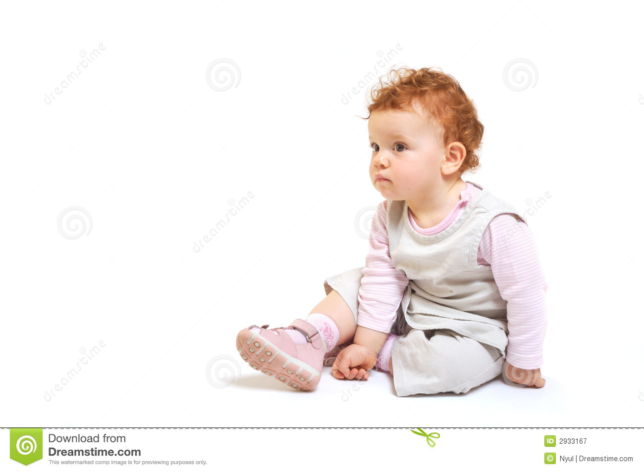 Redhead Baby Sitting Royalty Free Stock Photography - Image: 2933167
