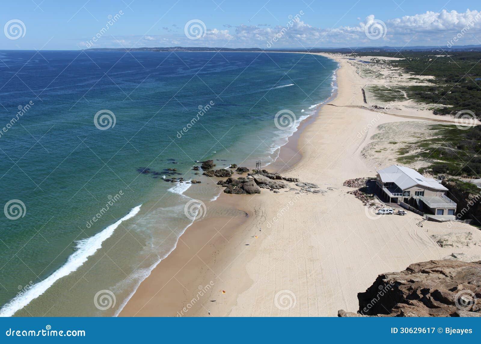 Redhead beach newcastle australia royalty free stock for Beach house designs newcastle