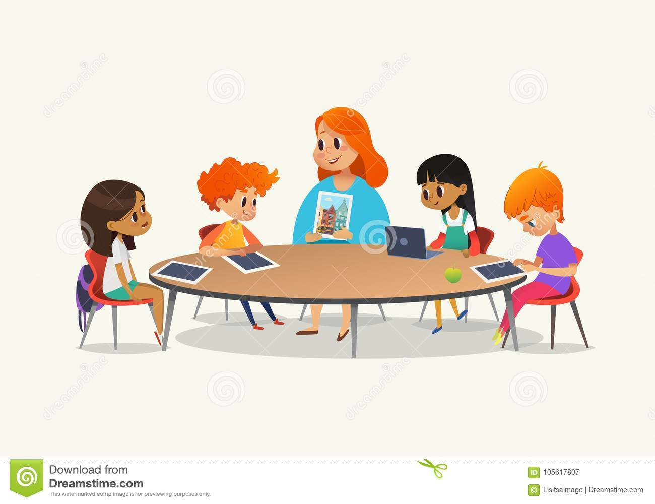 Sitting Cartoons Illustrations Amp Vector Stock Images