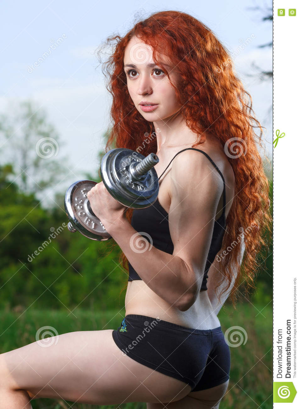 Redhead female fitness girls impossible