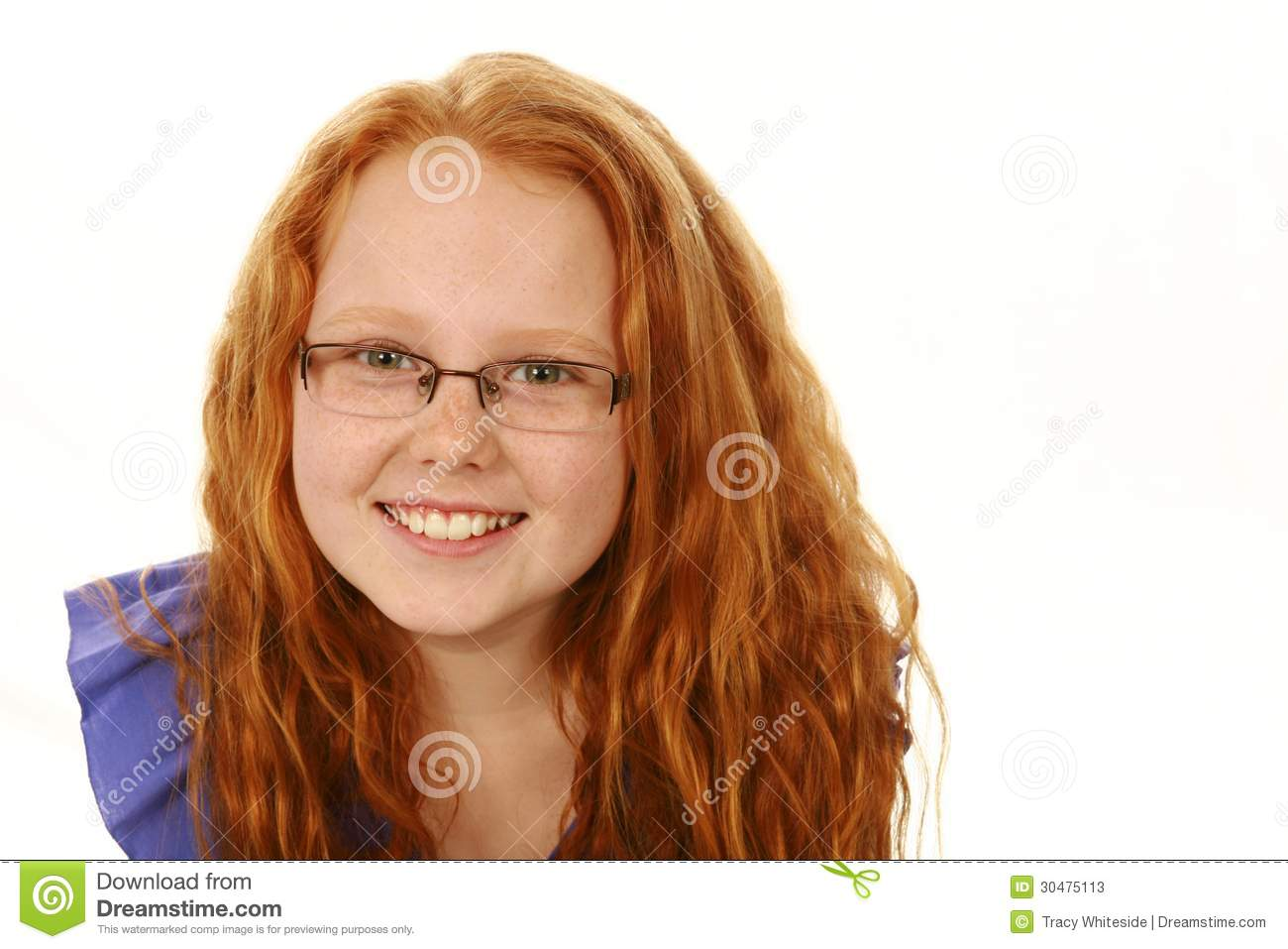 Freckles glasses brunette