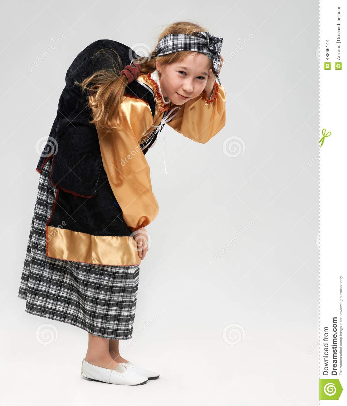 Redhead Girl In Witch Costume Stock Photo - Image: 48866144