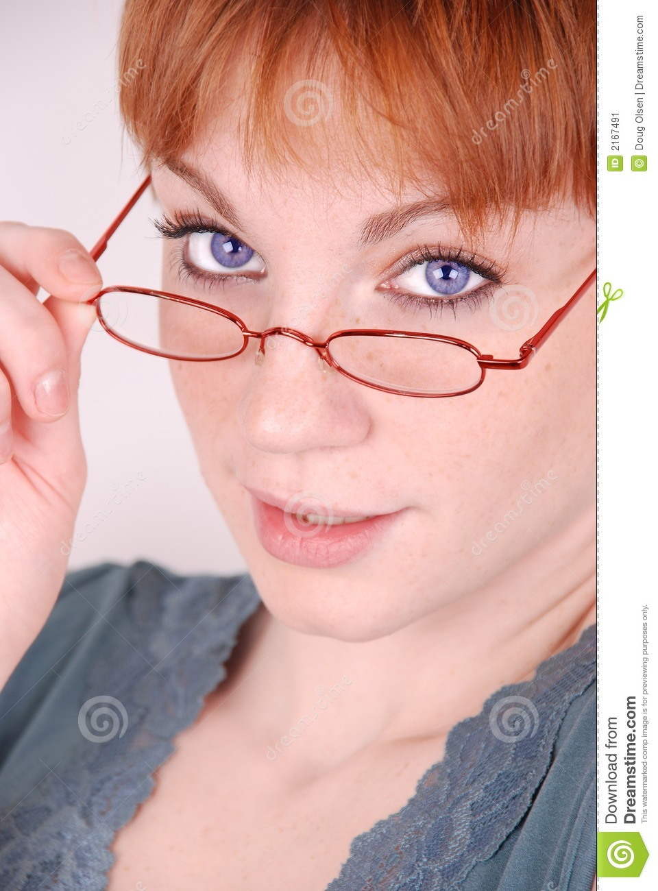 Stock Image: Redhead with glasses. Image: 2167491