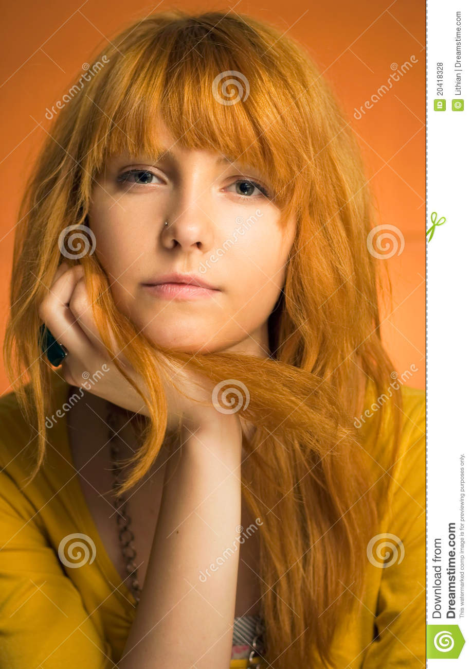 Redhead Teen With Attitude Royalty Free Stock Photos -6785