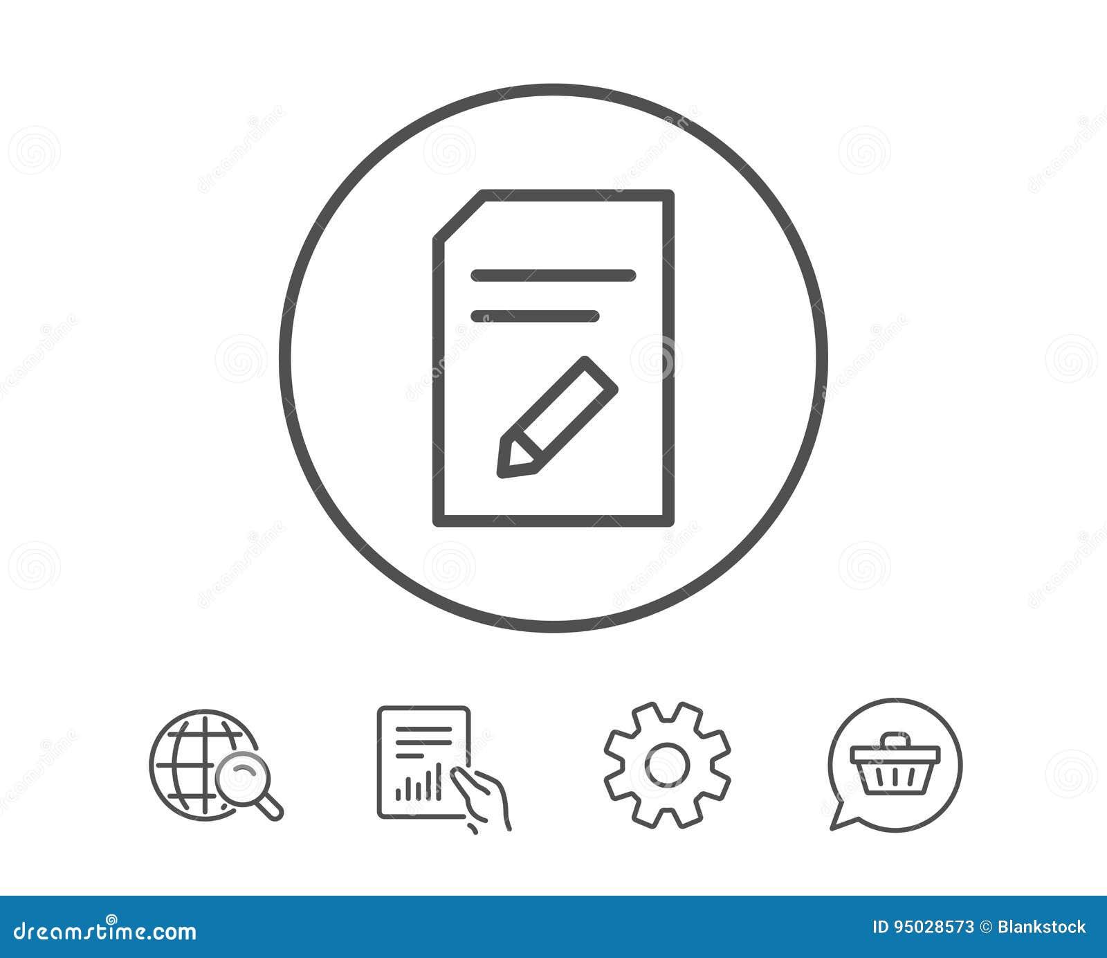 Redigera dokumentlinjen symbol Mapptecken