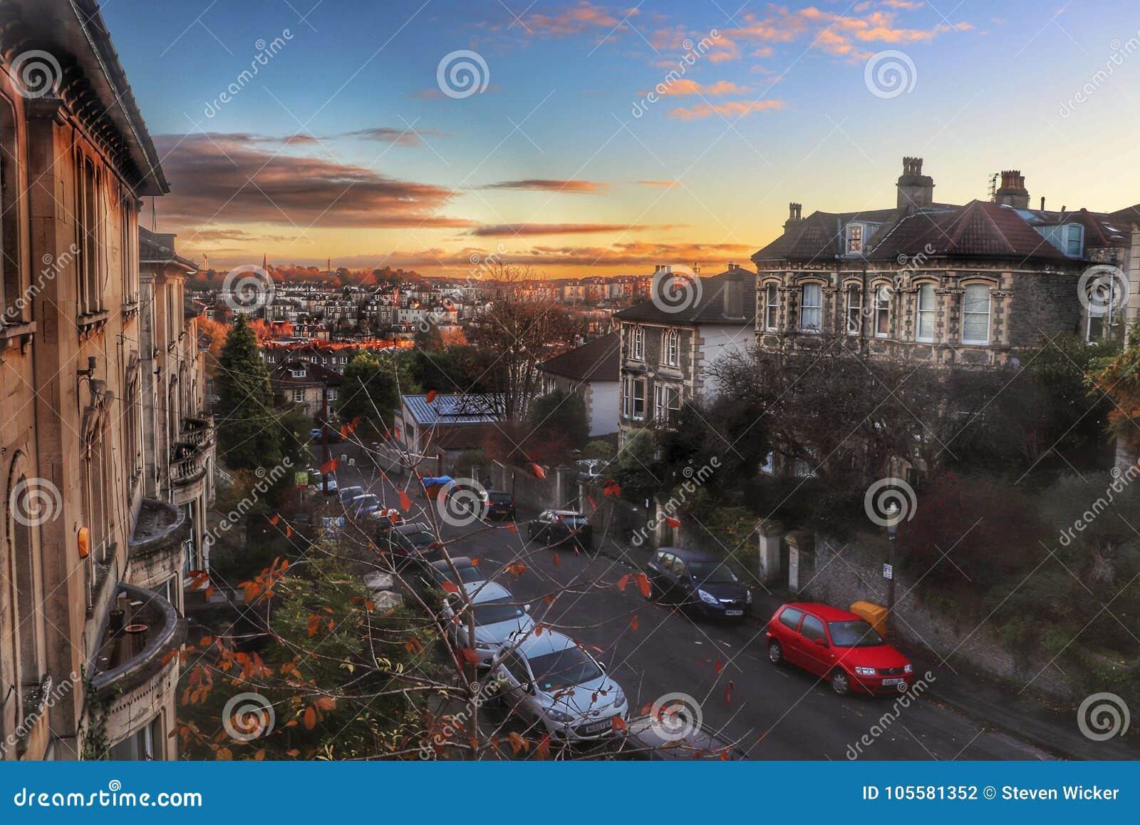 Redland, Bristol przy zmierzchem