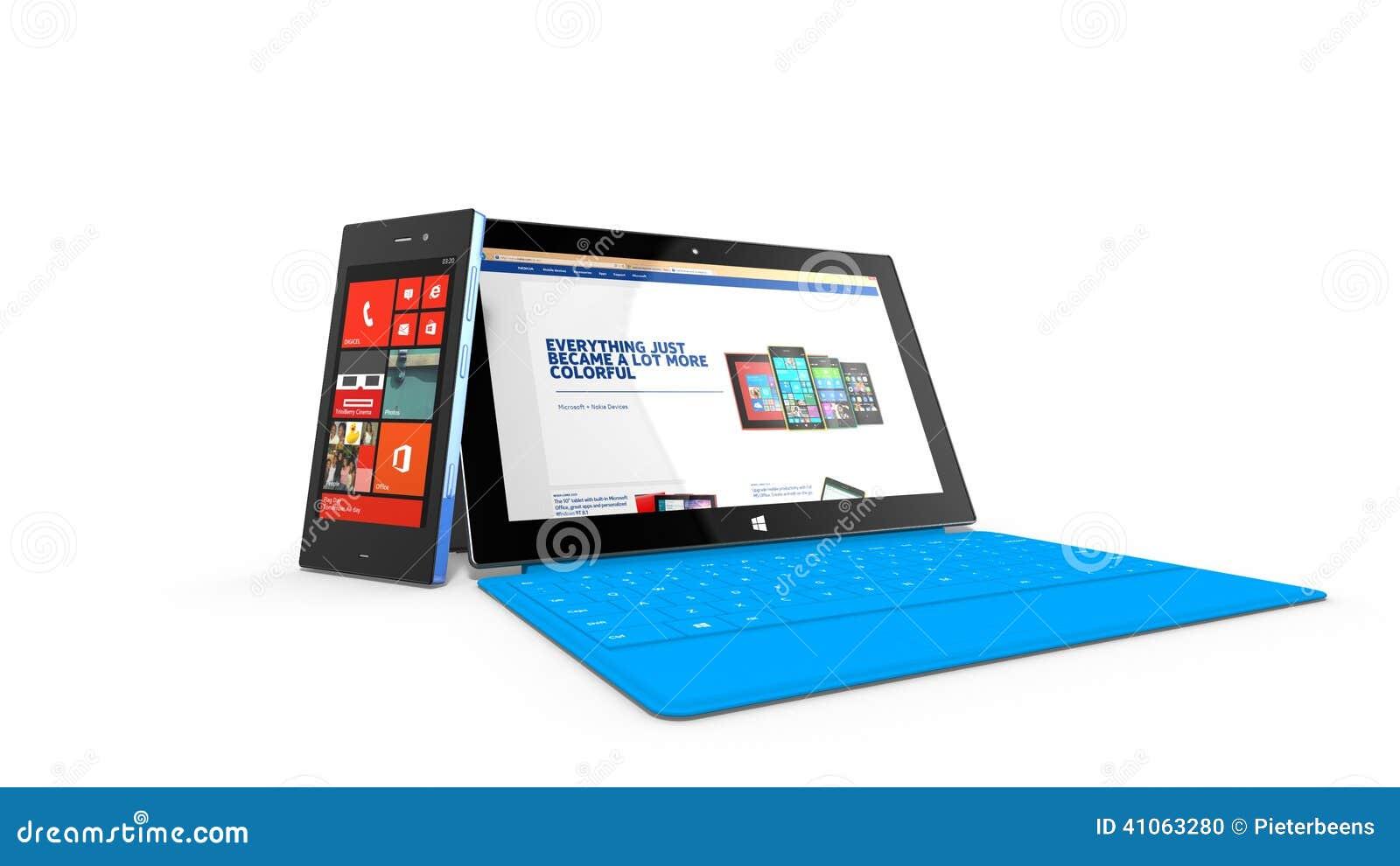 REDMOND, WASHINGTON (USA) - 24 APRIL 2014 - Microsoft Surface tablet on display.