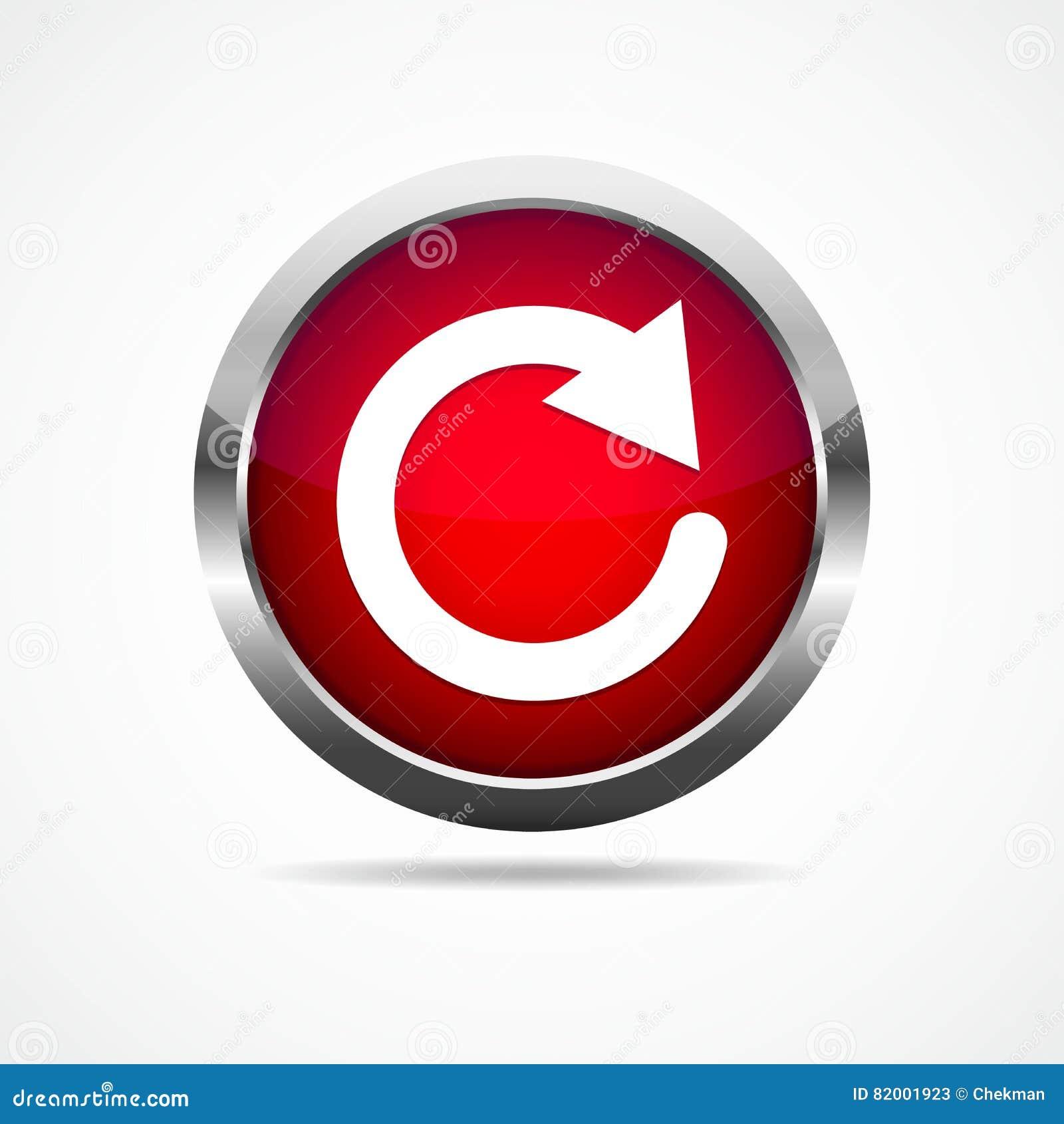 Redn régénèrent le bouton Illustration de vecteur