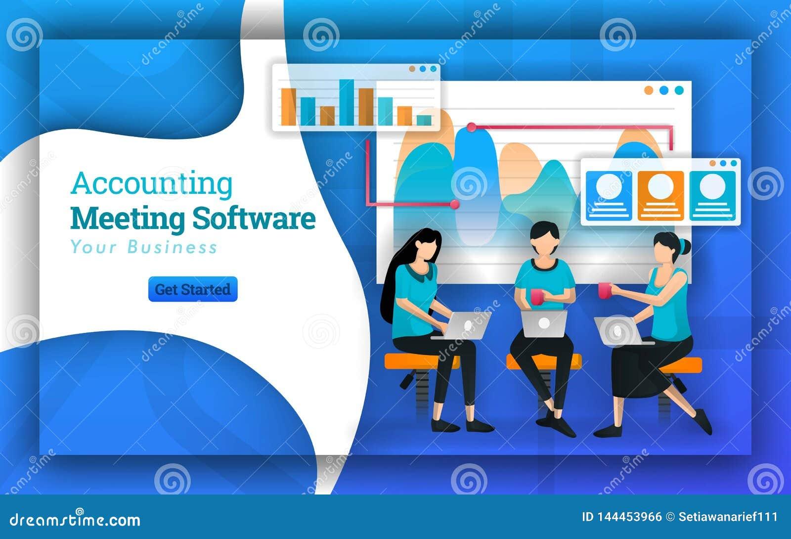 Redovisande möteprogramvara har många yrkesmässiga revisorer från många företag, tjänande som små och medelstora företagskatt och
