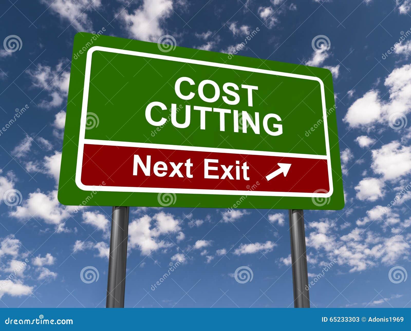 Reducción de los costes, salida siguiente