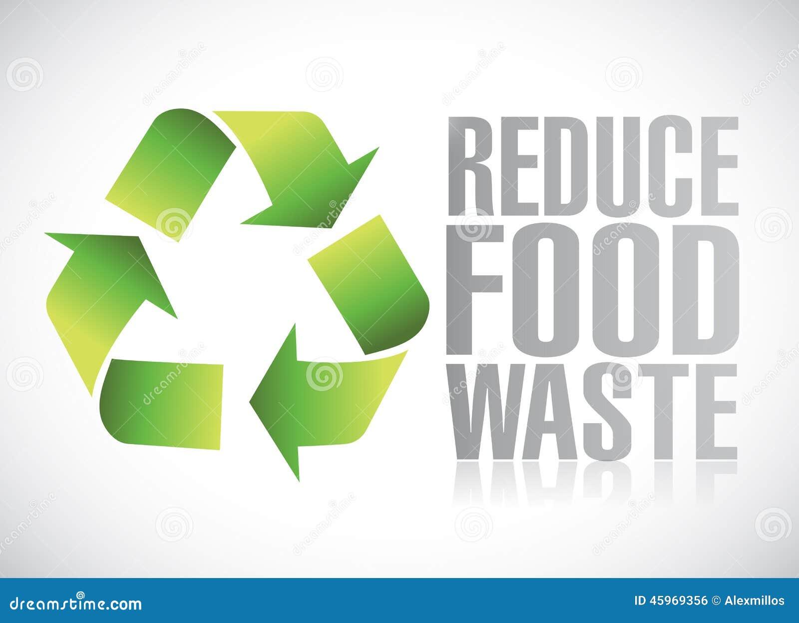Reduce Food Waste Sign Illustration Stock Illustration ...