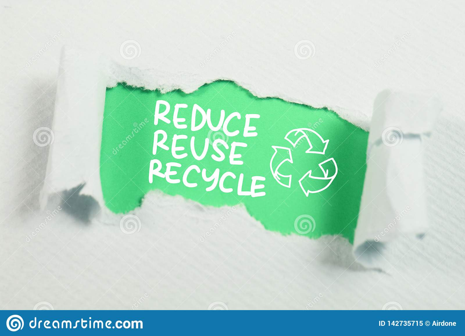 reduce reuse recycle motivational words quotes concept stock