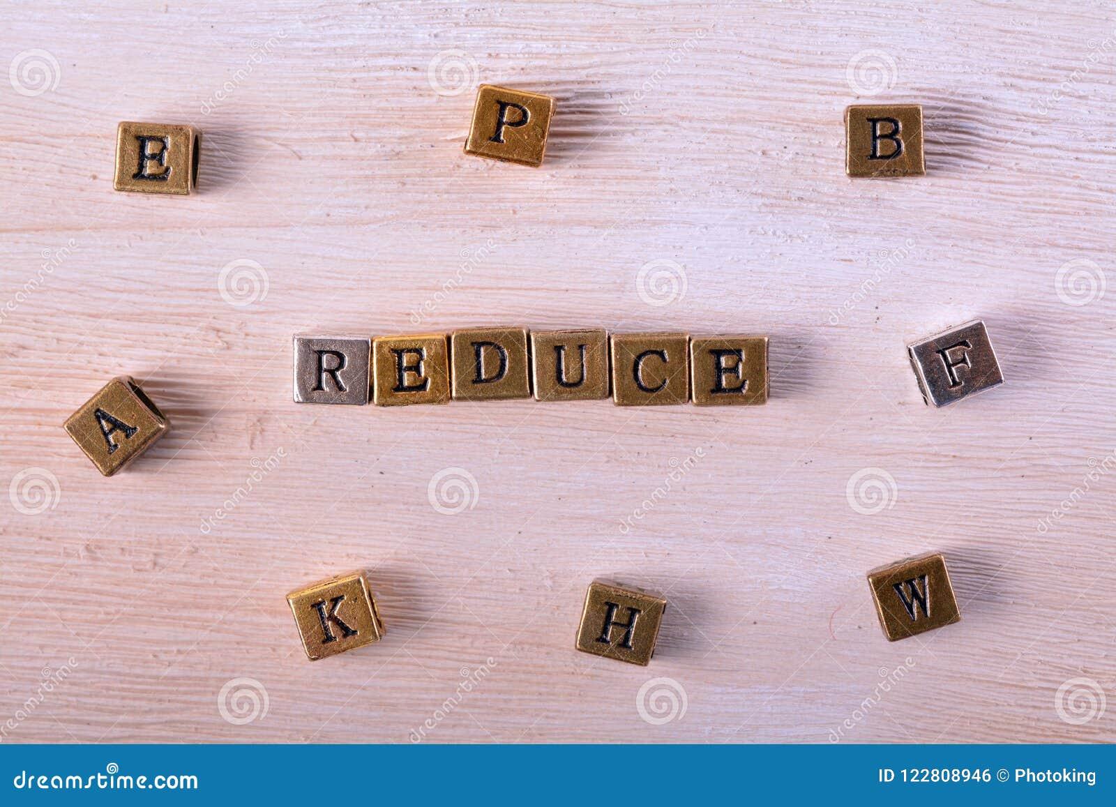 Reduce word metal block