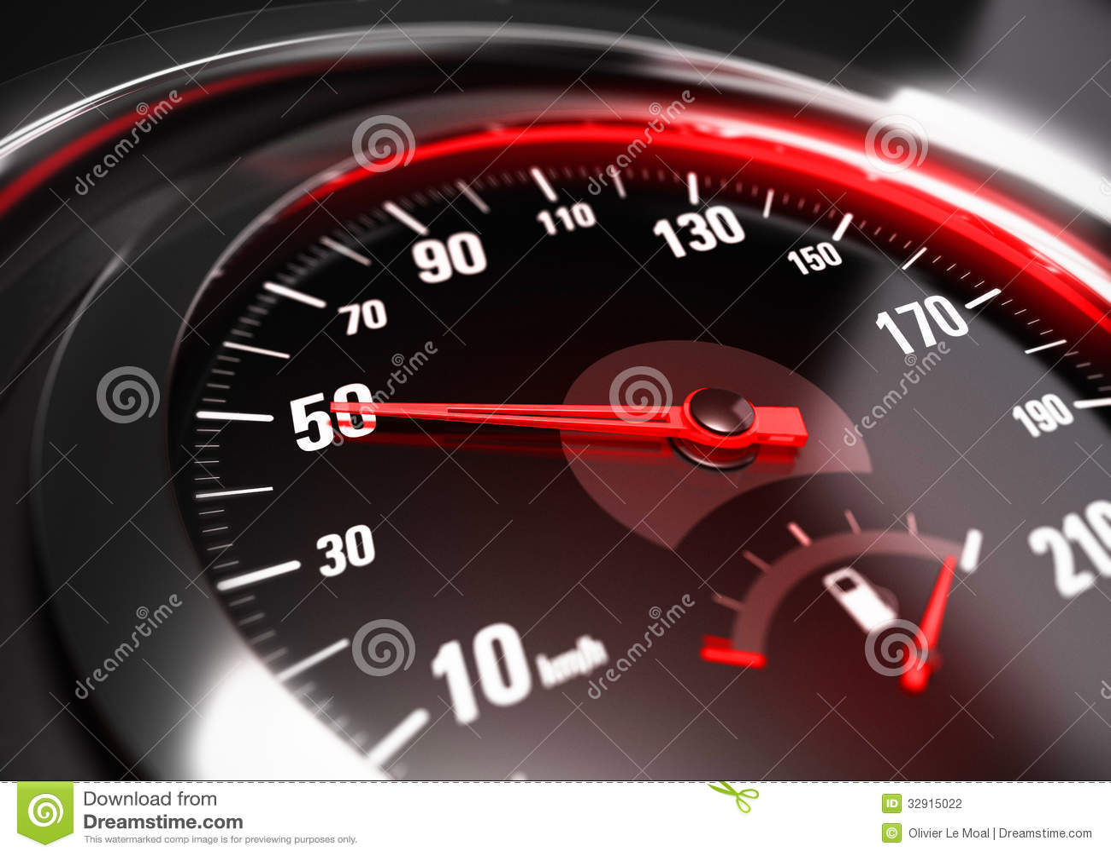 reducing speed safe driving concept 50 km h stock. Black Bedroom Furniture Sets. Home Design Ideas