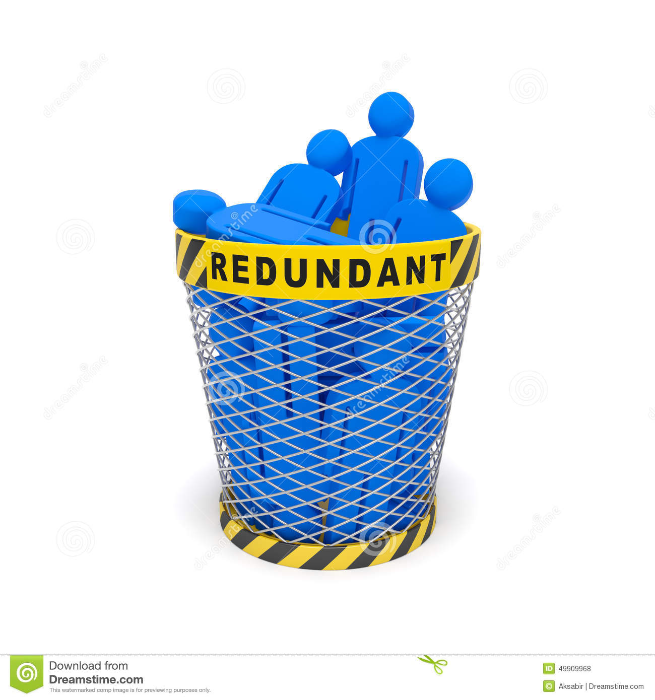 Redundant Wastebasket Stock Illustration - Image: 49909968