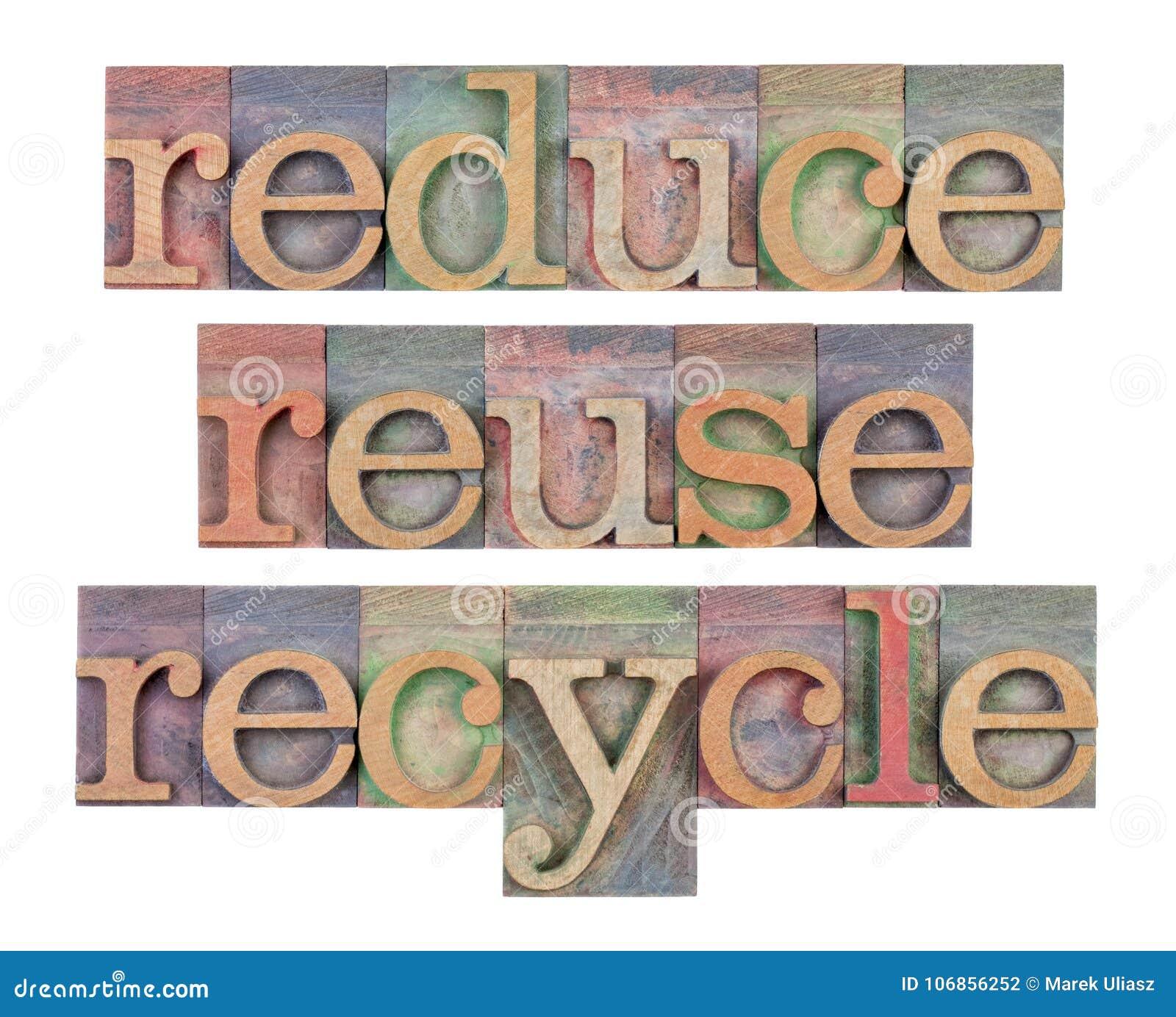 Reduza, reúso e recicl - a conservação do recurso