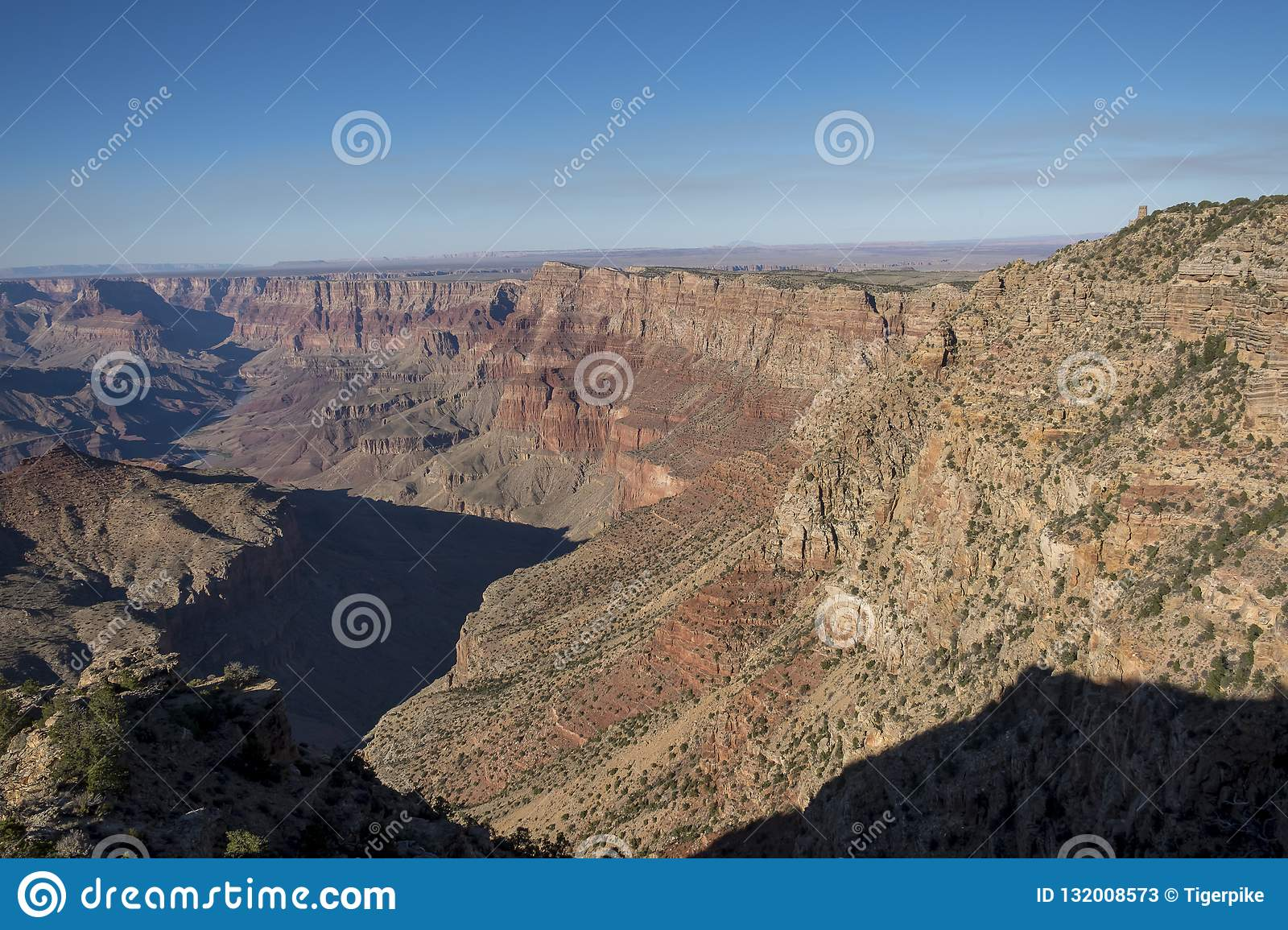 Redwall Limestone Grand Canyon National Park Arizona Stock