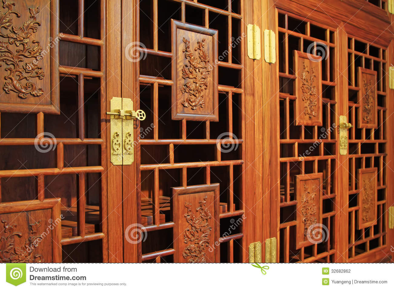 Royalty Free Stock Photo. Download Redwood Furniture, Traditional Chinese  Art Style Stock Photo ...