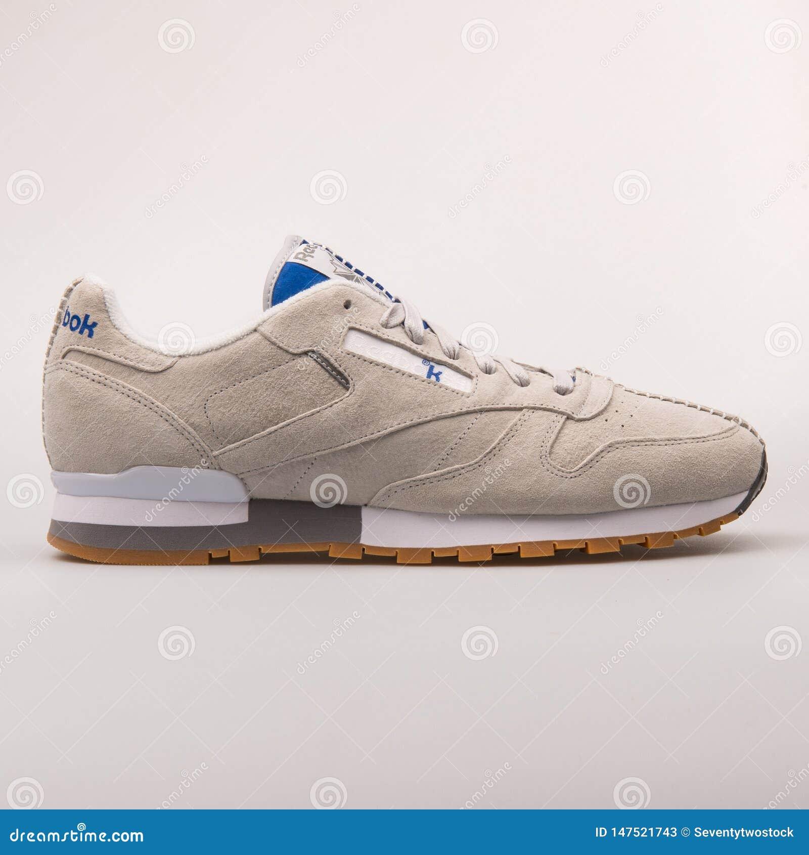 28489d03 Reebok Classic Leather KLSP Grey Sneaker Editorial Stock Photo ...