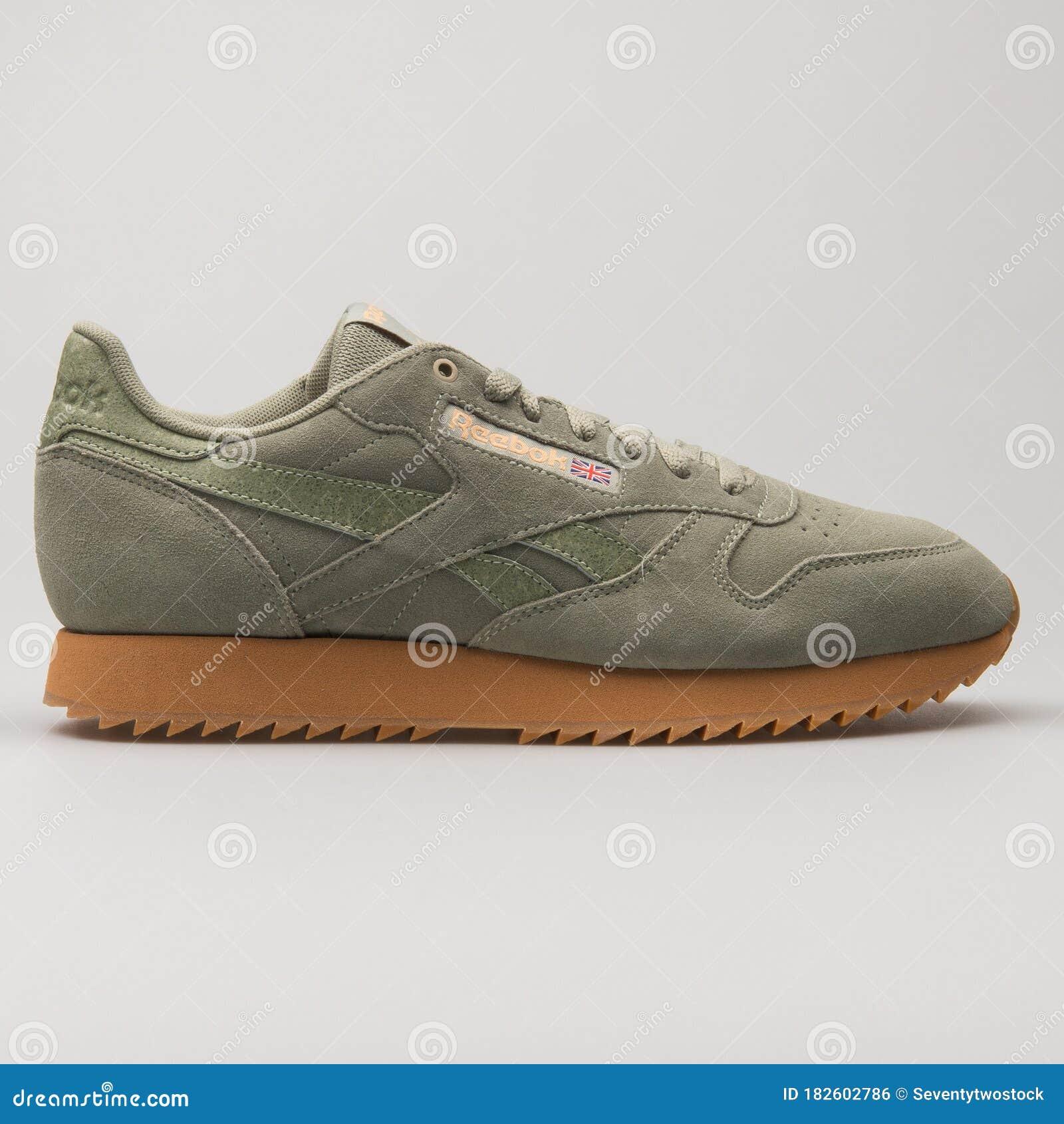olive green reebok sneakers