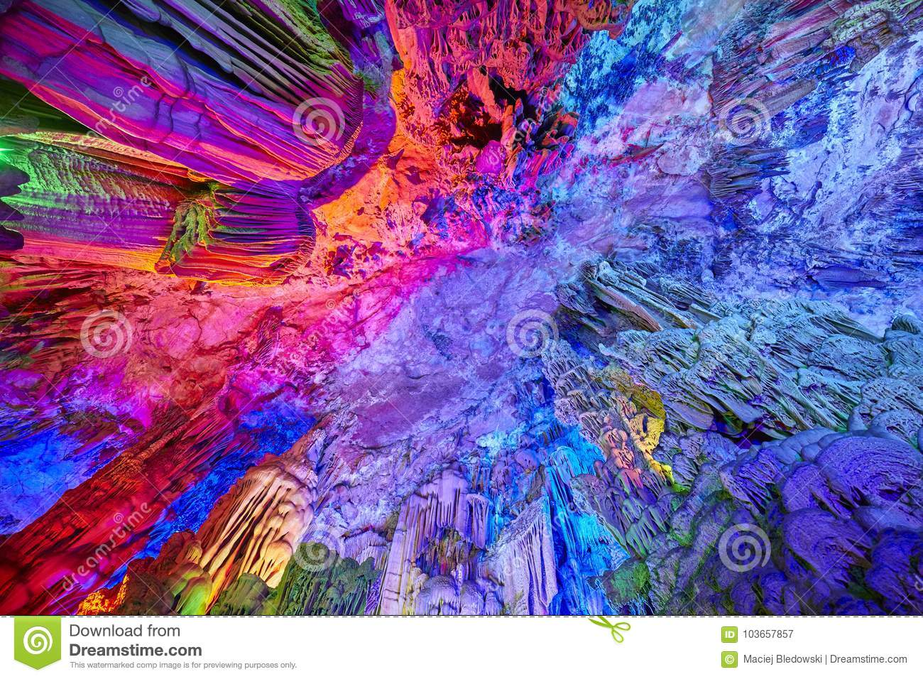 Reed Flute Cave a Guilin, Cina