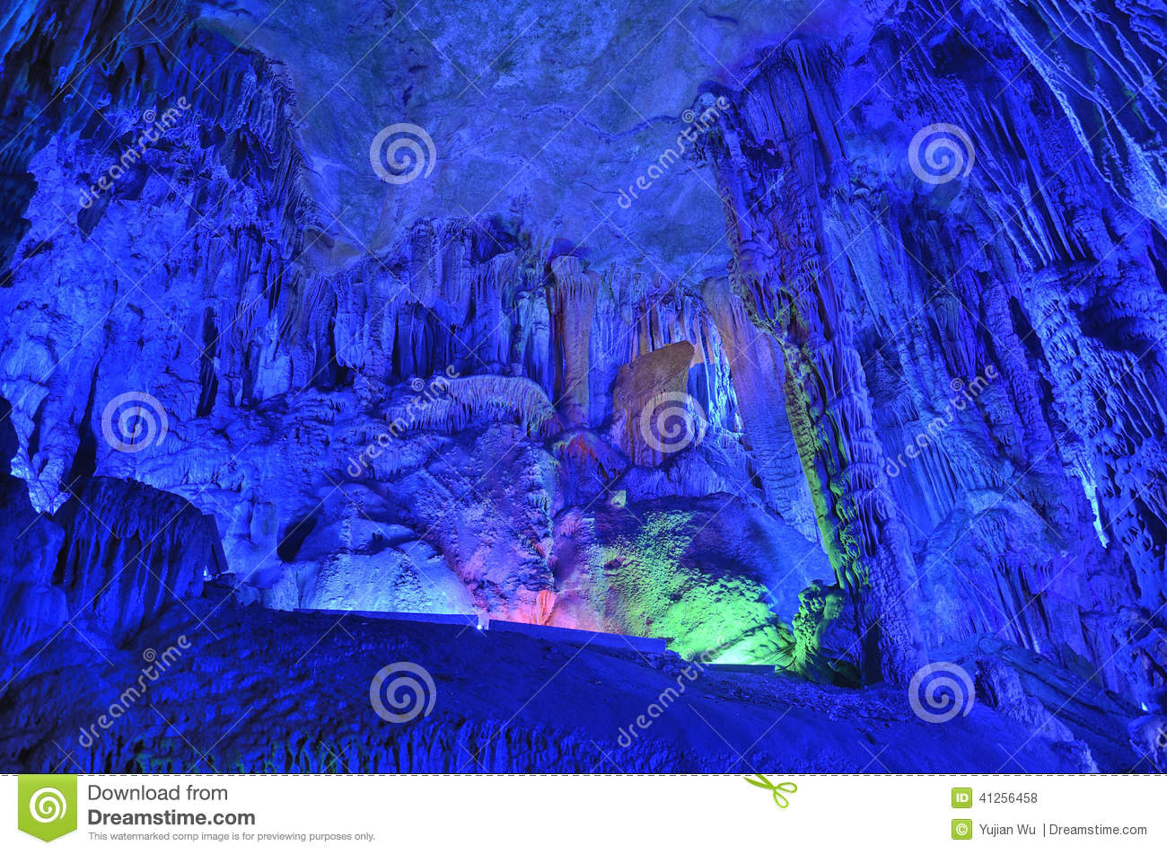 Reed Flute Cave stalactites