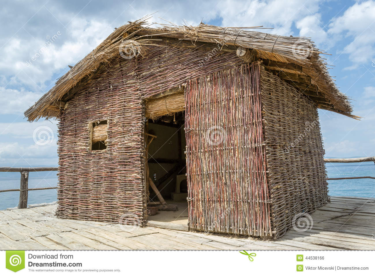 Reed house stock photo image 44538166 - When building a house ...