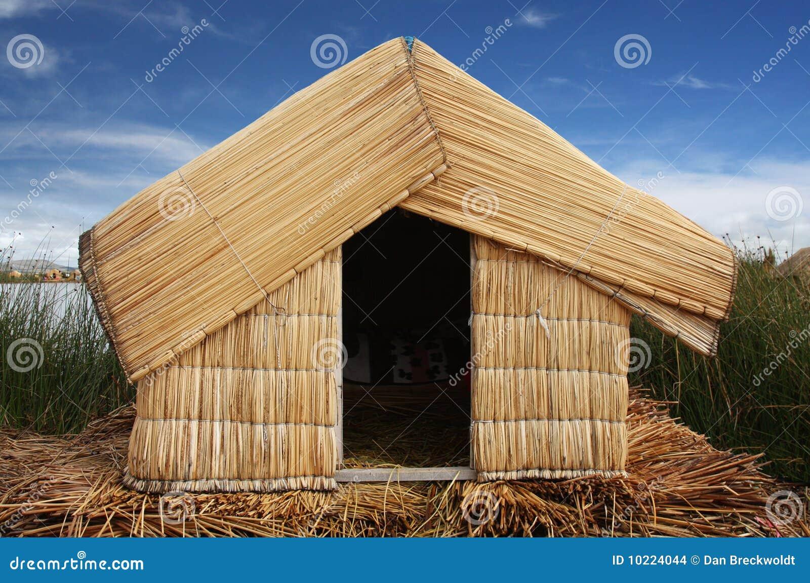 Reed Hut On Lake Titicaca Peru Stock Photo Image Of Bolivia