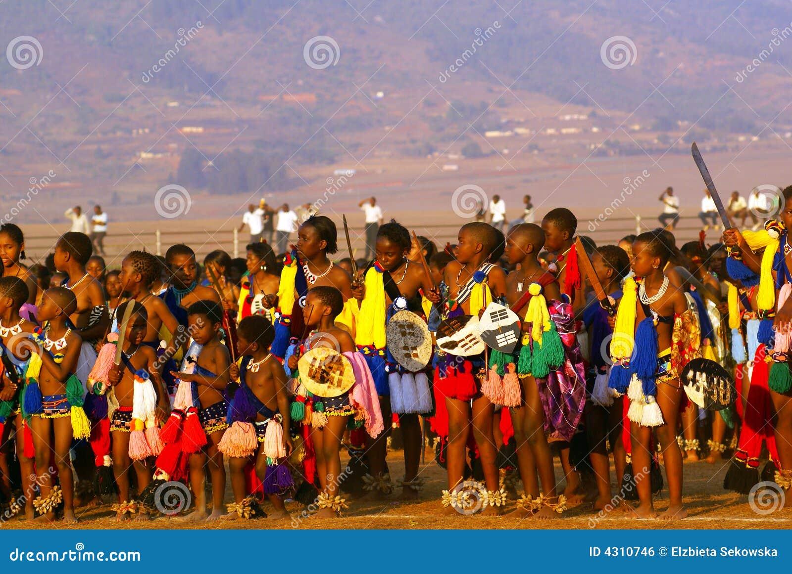 Reedtanz in Swasiland (Afrika)