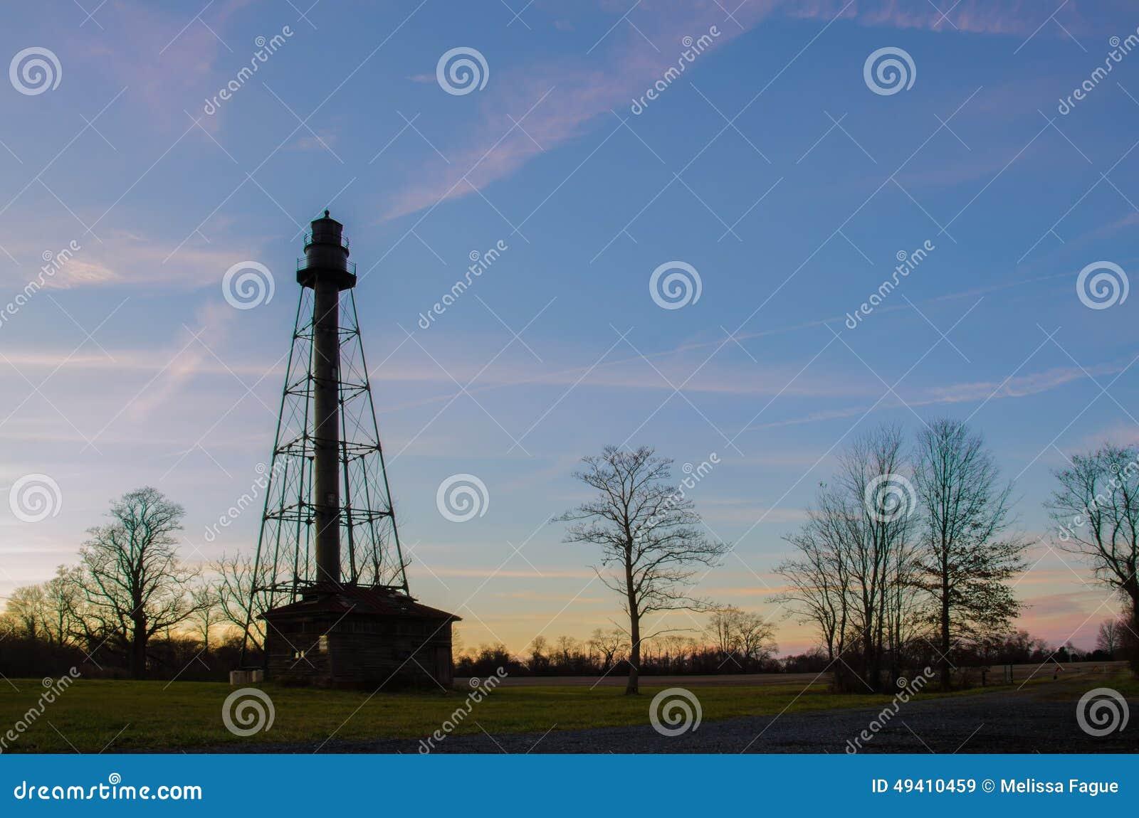 Download Reedy Point Rear Range Winter Stockbild - Bild von bewegung, leuchtturm: 49410459