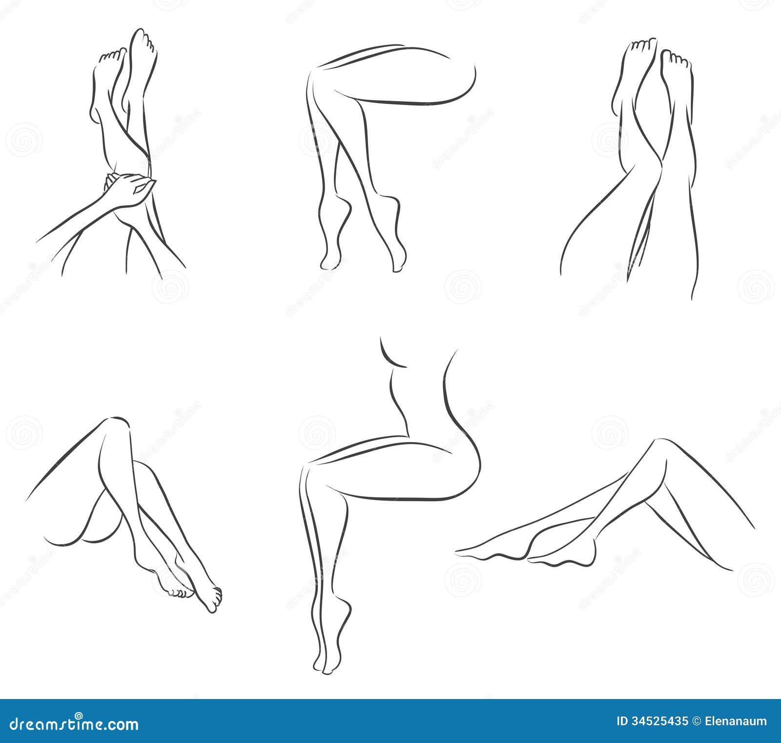 Reeks benen van vrouwen